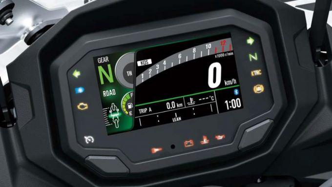 Kawasaki NInja 1000SX 2020:la strumentazione con display a colori