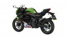 Kawasaki Ninja 125 2021: visuale di 3/4 posteriore