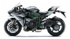 Kawasaki Ninja H2 Carbon, ha l'indicatore dell'angolo di piegata