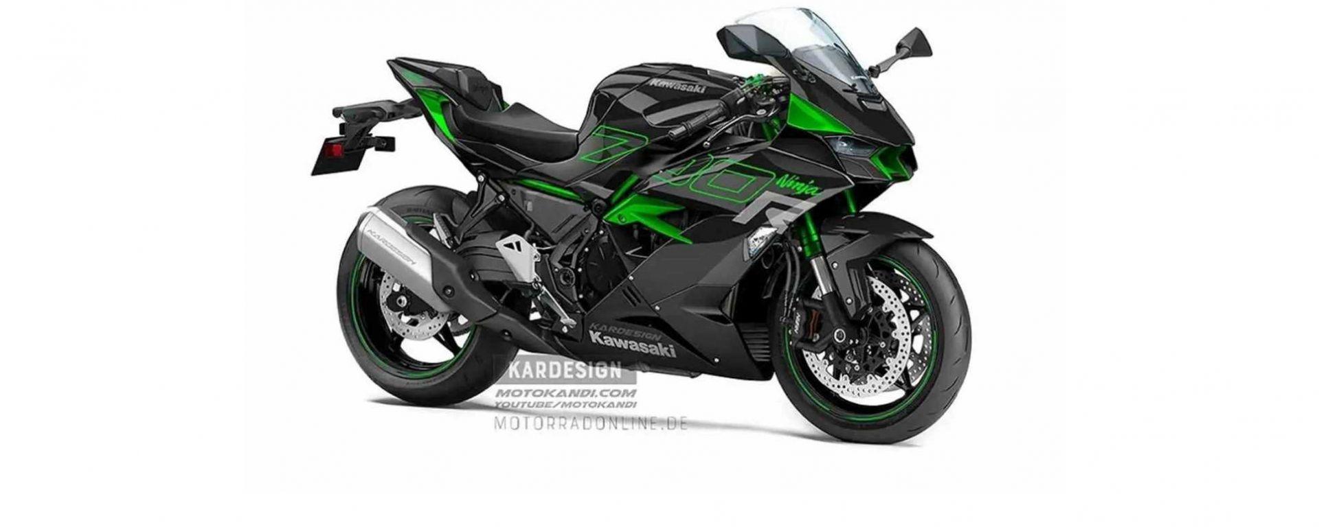 Kawasaki potrebbe realizzare una sportiva media, la Ninja 700R