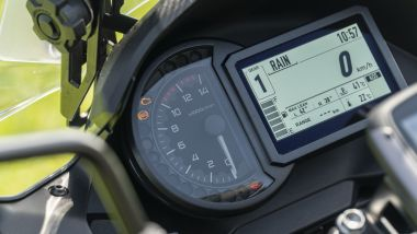 Kawasaki Versys 1000 S Grand Tourer 2021: cruscotto e display TFT