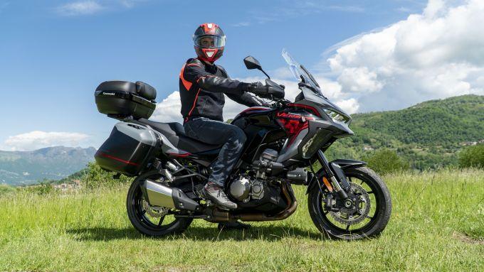 Kawasaki Versys 1000 S Grand Tourer 2021: la posizione in sella è molto comoda