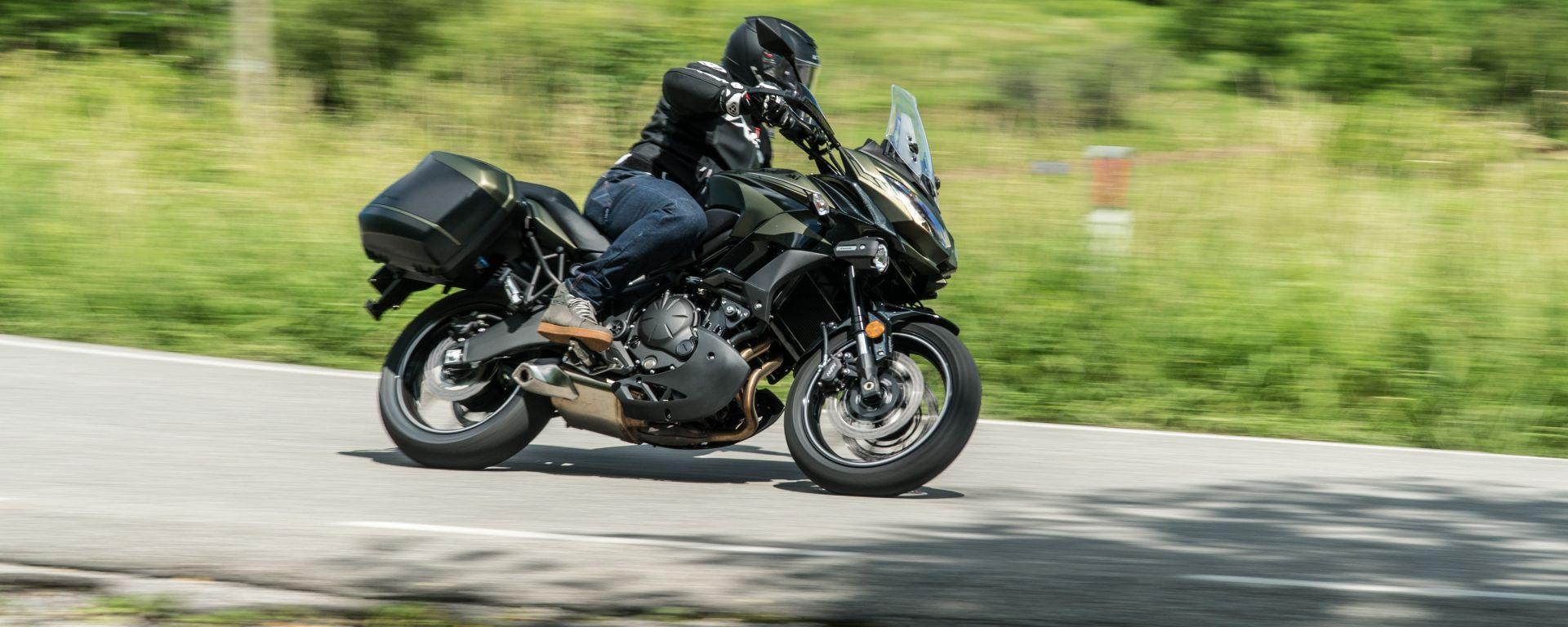 Kawasaki Versys 650 in azione