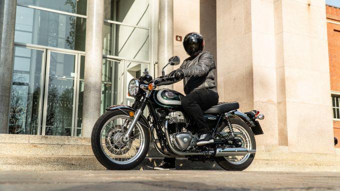 Kawasaki W 800 Classic, l'abbigliamento della prova