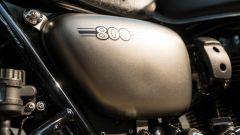 Kawasaki W 800 Street 2019: dettaglio del fianchetto