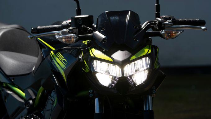 Il nuovo faro a LED della Kawasaki Z 650