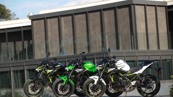 La gamma colori della Z 650 di Kawasaki