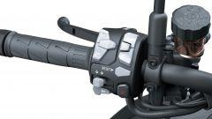 Kawasaki Z H2 2020: dettaglio del blocchetto elettrico sinistro