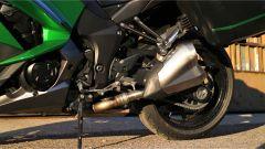 Kawasaki Z1000SX Tourer 2019: dettaglio dello scarico