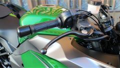 Kawasaki Z1000SX Tourer 2019: la leva del freno regolabile