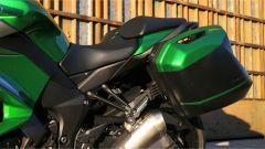 Kawasaki Z1000SX Tourer 2019: le valigie del kit Tourer