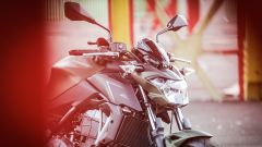 Kawasaki Z650: dettaglio del frontale