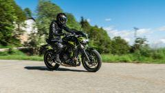 Kawasaki Z650 in azione