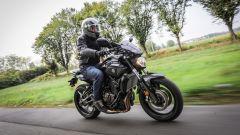 Kawasaki Z650: un momento della comparativa