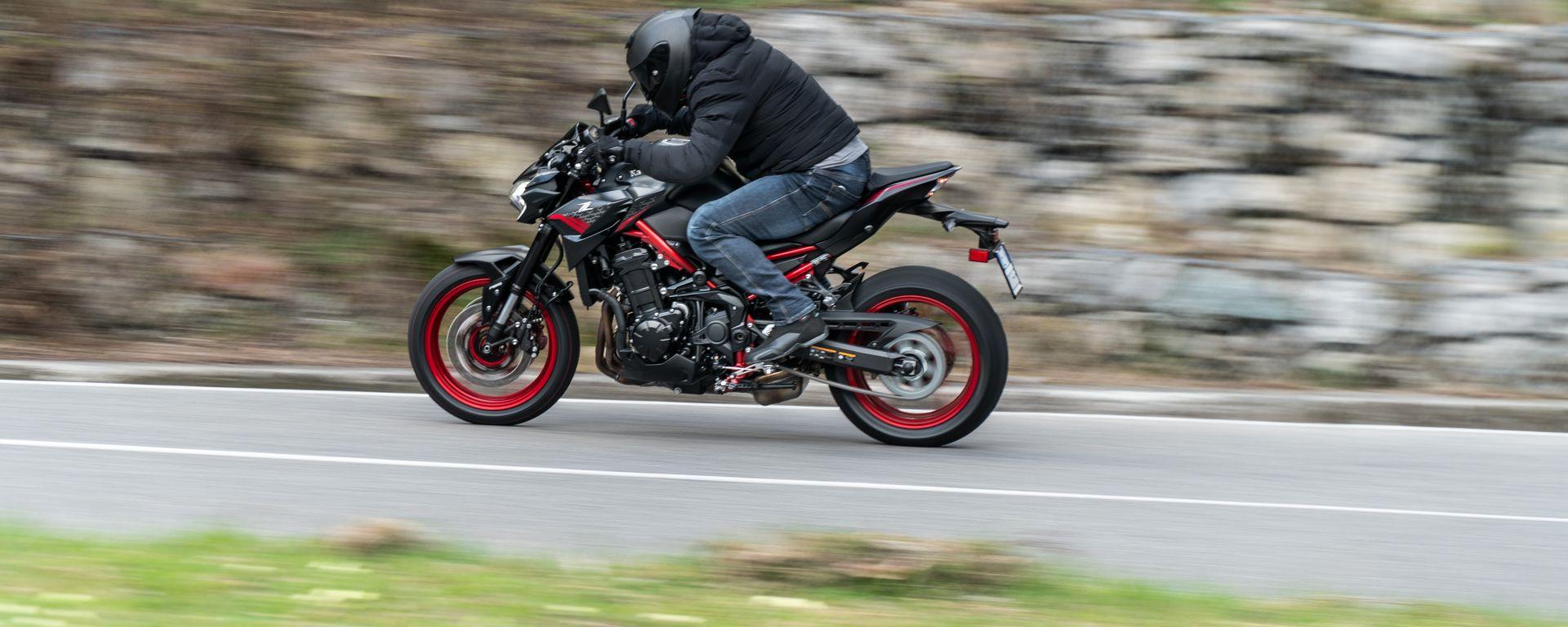 Kawasaki Z900 70 kW: il calo di prestazione non è facilmente percepibile