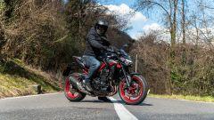 Kawasaki Z900 70 kW: l'abbigliamento della prova