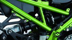 Kawasaki Z900: dettaglio del telaio a traliccio
