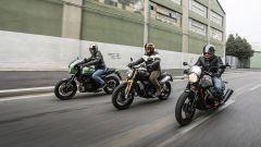 Kawasaki Z900 Cafe vs Ducati Scrambler vs Moto Guzzi Racer - Immagine: 1