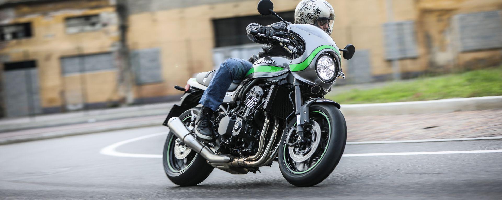 Kawasaki Z900RS Cafe 2019, la prova su strada