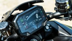 Kawasaki ZH2: il display TFT è dotato di connettività Bluetooth