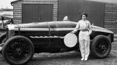 Kay Petre e la sua monumentale Delage 12V di 10,5 litri di cilindrata