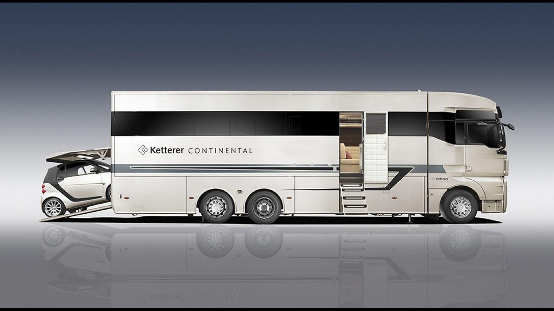 Motorhome ketterer continental motorbox for Planimetrie del garage rv