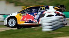 Kevin Hansen e la sua Peugeot 208 WRX - Mondiale Rallycross 2017, GP Belgio