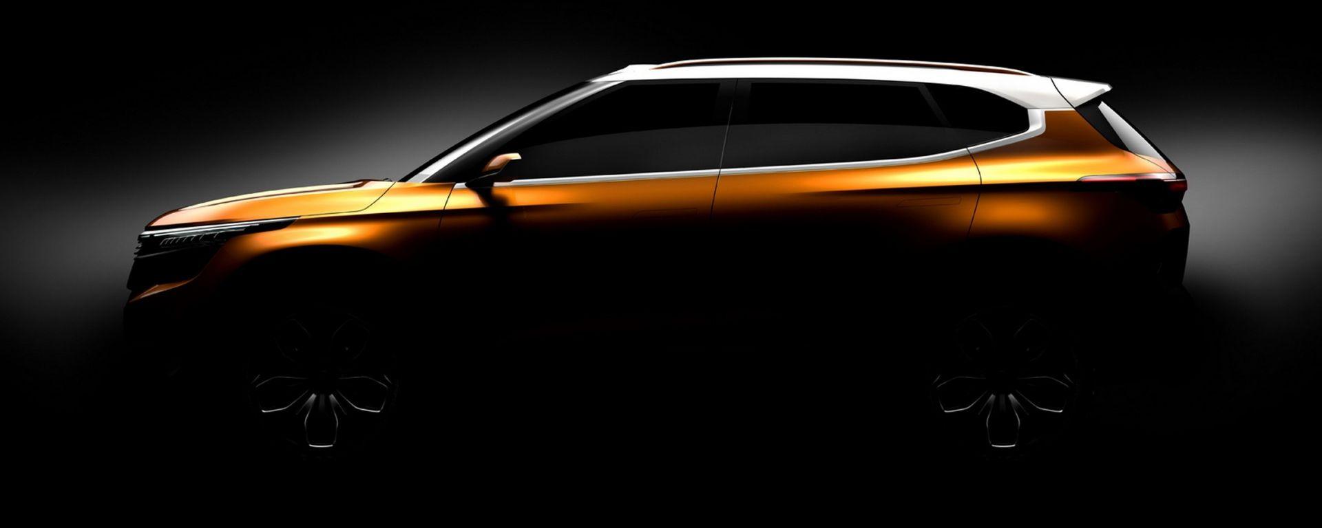 Kia Concept SP: le prime foto teaser