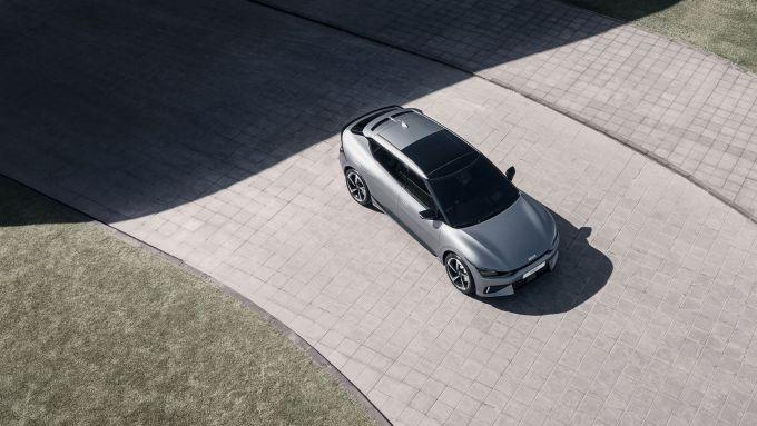 Kia EV6 GT vista dall'alto