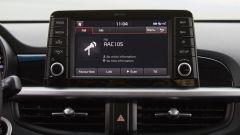 Kia Picanto 2017: il display spunta a mo di tablet al centro della plancia