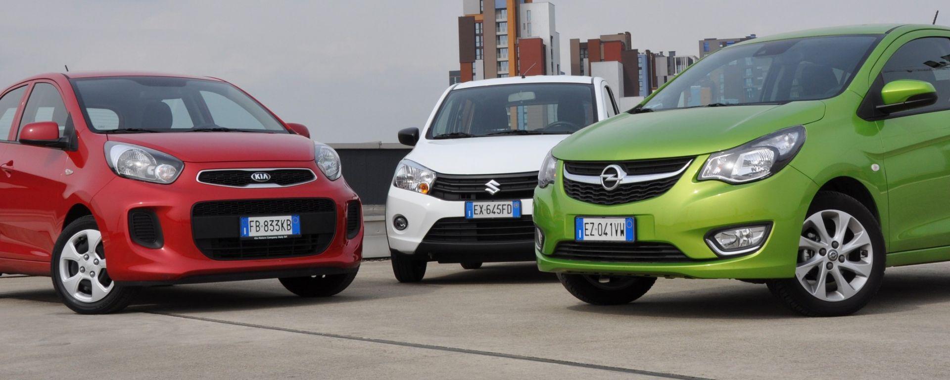 KIA Picanto 2016 vs Opel Karl vs Suzuki Celerio