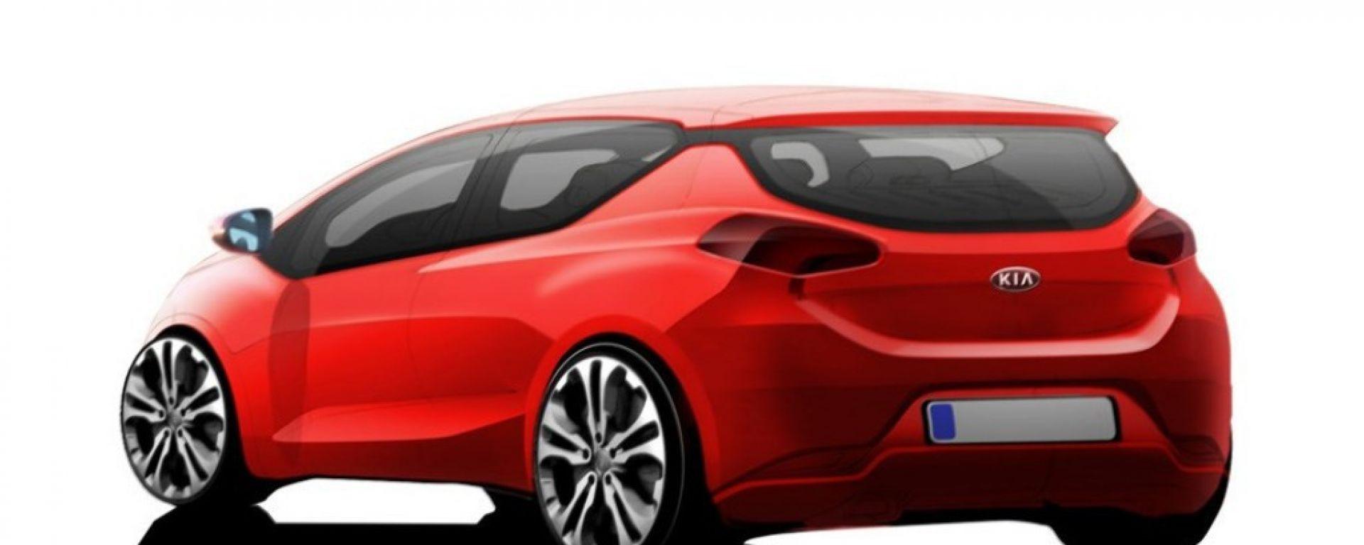 Kia pro cee'd 2012: il bozzetto a colori