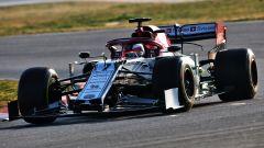 Kimi al volante dell'Alfa Romeo Racing C38