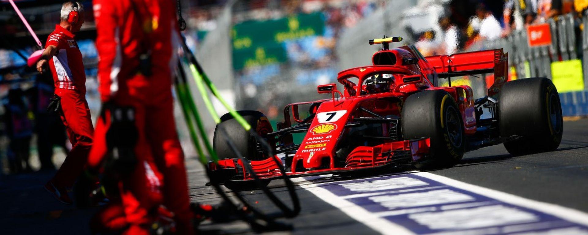 Kimi Raikkonen al pit-stop