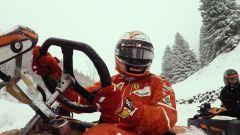 Kimi Raikkonen alla guida del go kart