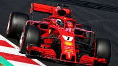 Kimi Raikkonen con la Ferrari SF71H