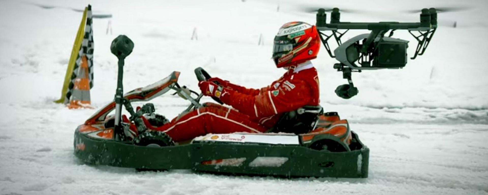 Kimi Raikkonen contro drone