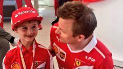 Kimi Raikkonen e il piccolo Tomàs