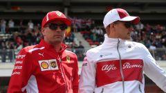Kimi Raikkonen e Marcus Ericsson nella stagione 2018 di Formula 1