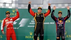 Kimi Raikkonen, il podio del GP d'Australia 2013