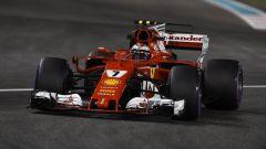 Kimi Raikkonen in azione nelle FP2 di Abu Dhabi