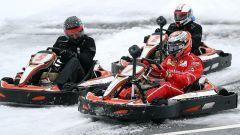 Kimi Raikkonen in lotta nell'evento Shell