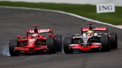 Kimi Raikkonen, la lotta con Lewis Hamilton nel 2008
