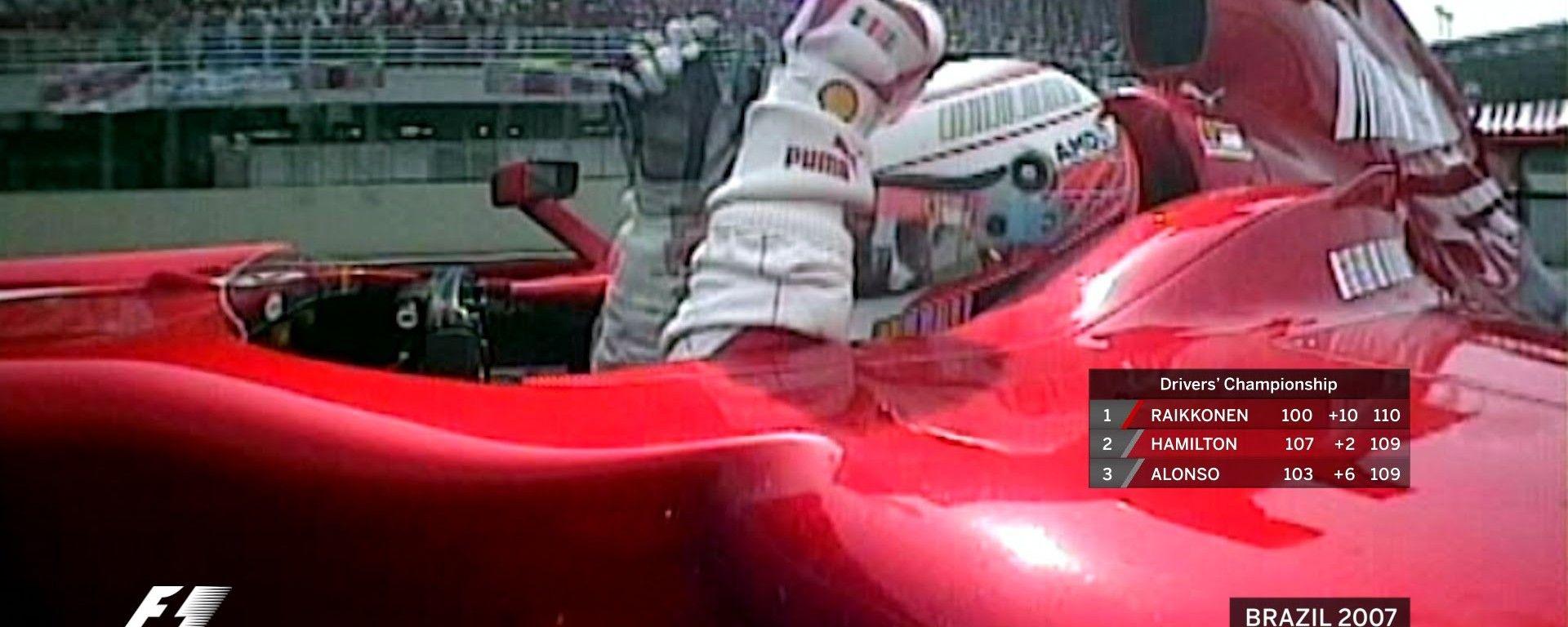 Kimi Raikkonen - la vittoria al GP del Brasile 2007