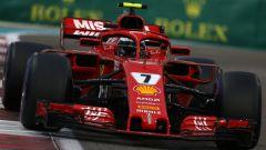 Kimi Raikkonen nella sua ultima gara con la Ferrari, il Gp di Abu Dhabi 2018