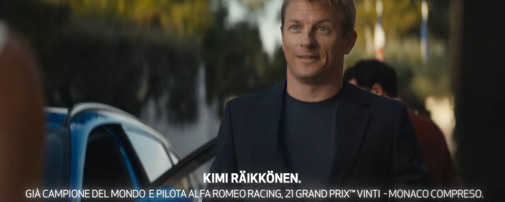 Kimi Raikkonen nello spot Alfa Romeo 2020