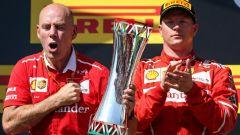 """F1 2017, GP Ungheria, Kimi Raikkonen: """"Oggi l'importante era vincere per la squadra"""""""