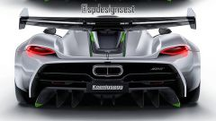 Koeniggsegg Jesko rendering by SP Designs: il retrotreno