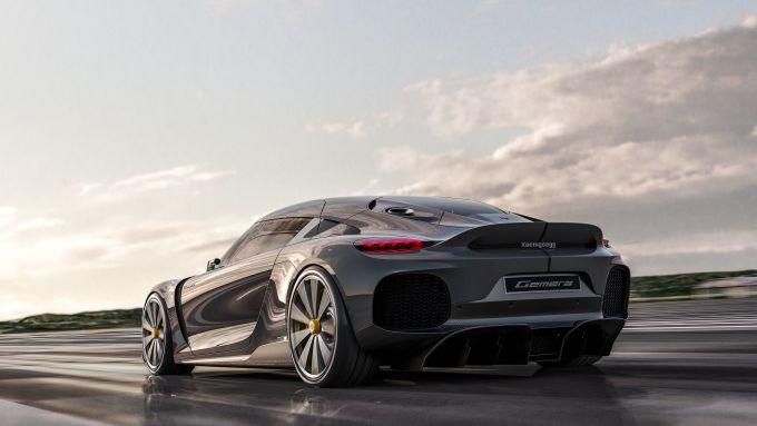 Koenigsegg Gemera: dettaglio posteriore