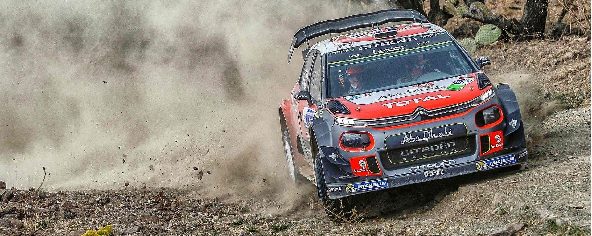 Kris Meeke con la Citroen C3 WRC Plus - WRC 2017 Rally del Messico